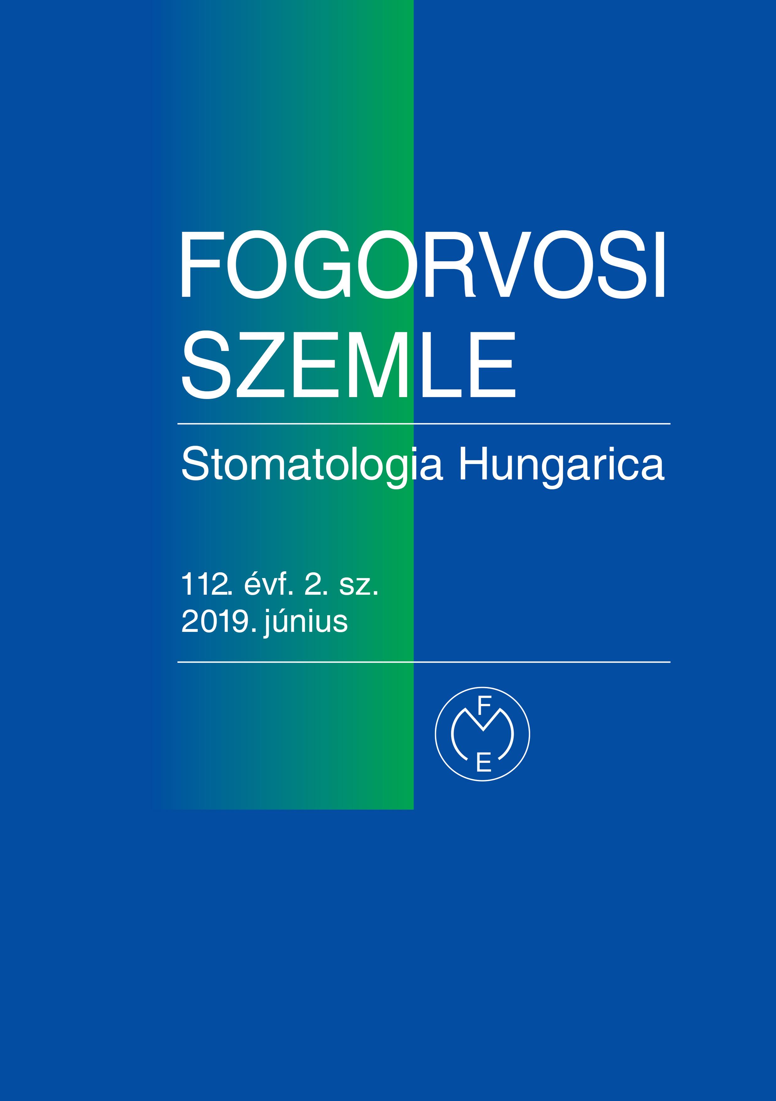 Fogorvosi Szemle 2019. június