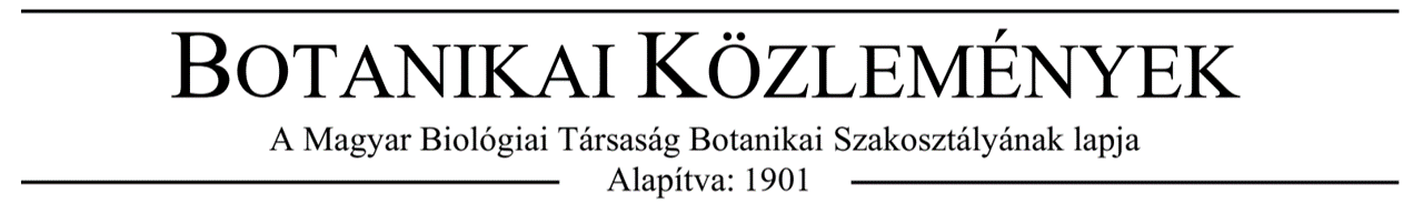 Botanikai Közlemények logo magyar